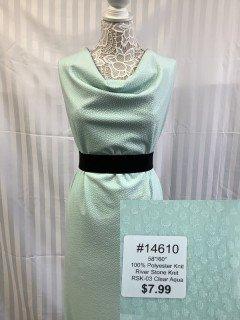 14610 River Stone Knit Clear Aqua