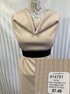 14791 Wind Ripple Knit Tan Blue