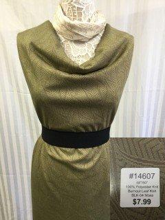 14607 Burnout Leaf Knit Moss