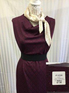14596 V Diamond Burnout Knit Mulberry