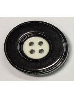 Button 546 Plastic black shiny 1.125