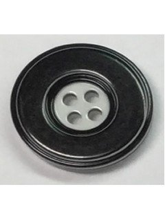 Button 547 Plastic black shiny 0.875