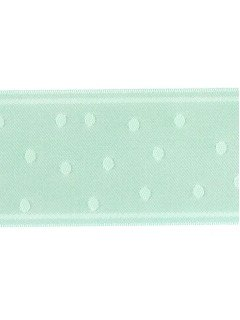 "Ribbon 1.5"" Dot Jacquard Blue Green"