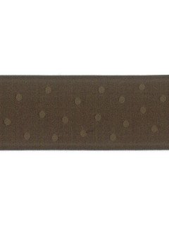 "Ribbon 1.5"" Dot Jacquard Brown"