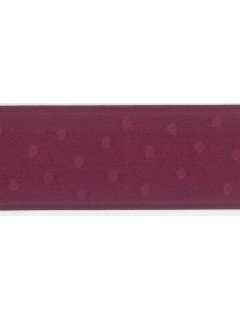 "Ribbon 1.5"" Dot Jacquard Burgandy"