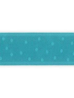 "Ribbon 1.5"" Dot Jacquard Deep Aqua"