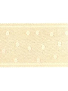 "Ribbon 1.5"" Dot Jacquard Flesh"