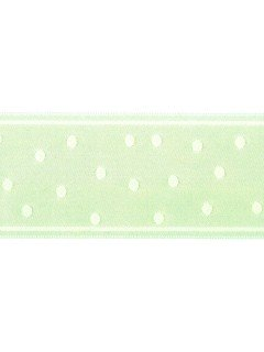 "Ribbon 1.5"" Dot Jacquard Mint"