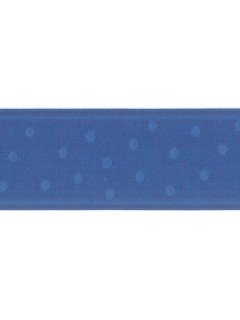"Ribbon 1.5"" Dot Jacquard Royal"