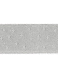 "Ribbon 1.5"" Dot Jacquard Silver"