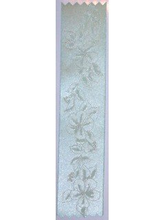 Lily Embossed Ribbon Silver Mint
