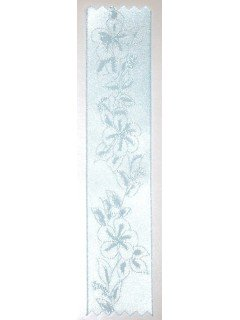 Lily Embossed Ribbon Spa Blue