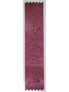 Lily Embossed Ribbon Wine