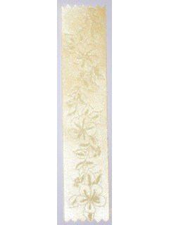 Lily Embossed Ribbon Yellow