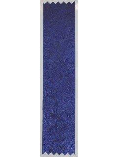 Rose Embossed Ribbon Cobalt