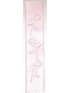 Rose Embossed Ribbon Pink