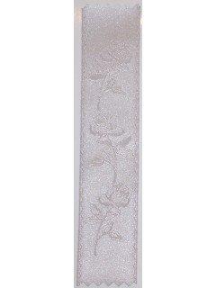 Rose Embossed Ribbon Silver