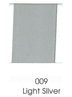 "Ribbon 1.5"" Single Face Satin 009 Light Silver"