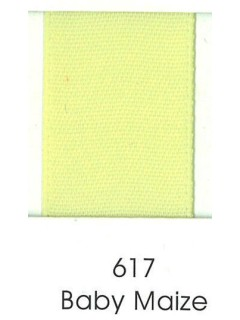 "Ribbon 1.5"" Single Face Satin 617 Baby Maize"