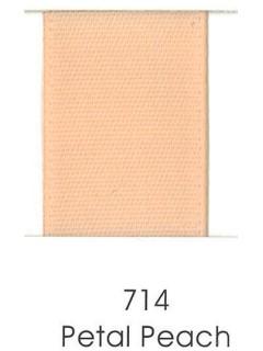 """Ribbon 1.5"""" Single Face Satin 714 Petal Peach"""