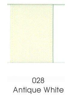 "Ribbon 1.5"" Single Face Satin 028 Antique White"