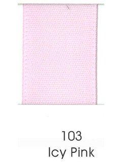 """Ribbon 1.5"""" Single Face Satin 103 Icy Pink"""