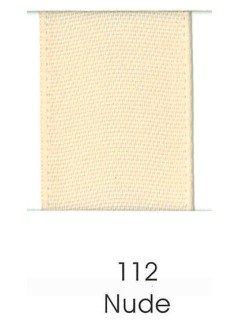 "Ribbon 1.5"" Single Face Satin 112 Nude"