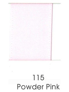 "Ribbon 1.5"" Single Face Satin 115 Powder Pink"