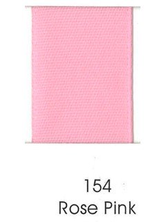 "Ribbon 1.5"" Single Face Satin 154 Rose Pink"