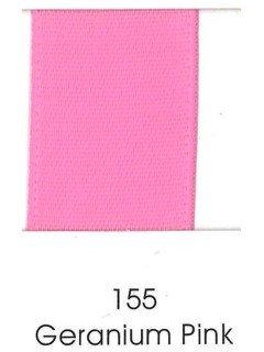 "Ribbon 1.5"" Single Face Satin 155 Geranium"