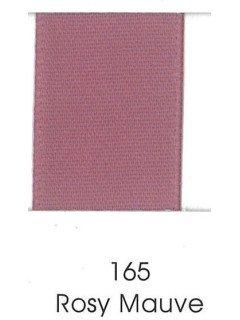"Ribbon 1.5"" Single Face Satin 165 Rosy Mauve"