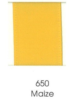 "Ribbon 1.5"" Single Face Satin 650 Maize"