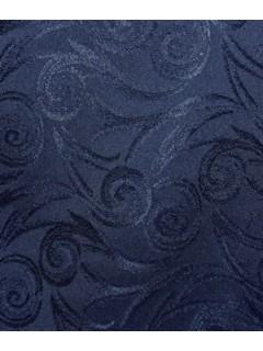 Swirl Tablecloth Fabric-Navy