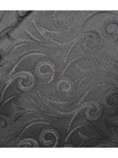 Swirl Tablecloth Fabric-Charcoal