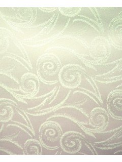 Swirl Tablecloth Fabric-Cream
