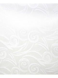 Swirl Tablecloth Fabric-White