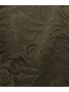Swirl Tablecloth Fabric-Brown