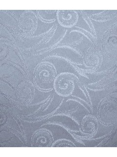 Swirl Tablecloth Fabric-Dusty Blue