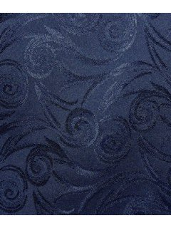 Swirl Tablecloth Fabric-Navy